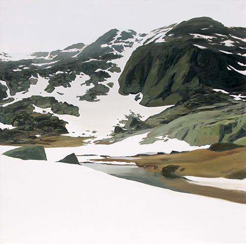 Cara Sureste del Peñalar 180x180 cm Javier Barco